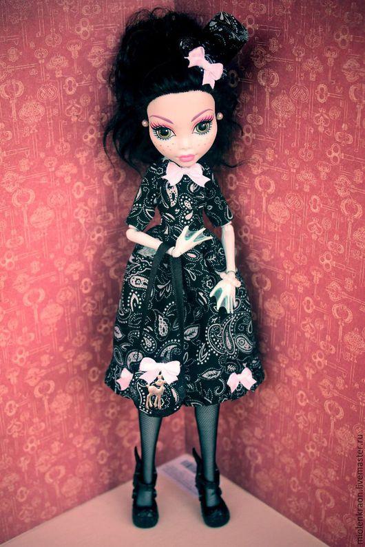 Одежда для кукол ручной работы. Ярмарка Мастеров - ручная работа. Купить аутфит Monster High. Handmade. Черный, monster high