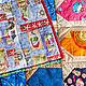 """Текстиль, ковры ручной работы. Заказать Лоскутное покрывало """"Домики"""" в стиле пэчворк. #МамаШьёт. Ярмарка Мастеров. Покрывало, лоскутное одеяло"""