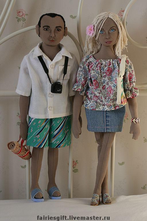Портретные куклы ручной работы. Ярмарка Мастеров - ручная работа. Купить портретные куклы. Handmade. Текстильная кукла, текстиль
