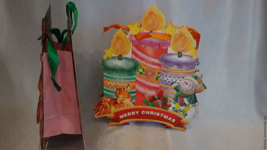 Упаковка ручной работы. Ярмарка Мастеров - ручная работа. Купить 24х37см Новогодняя упаковка подарков. Handmade. Новогодняя упаковка, пакетик