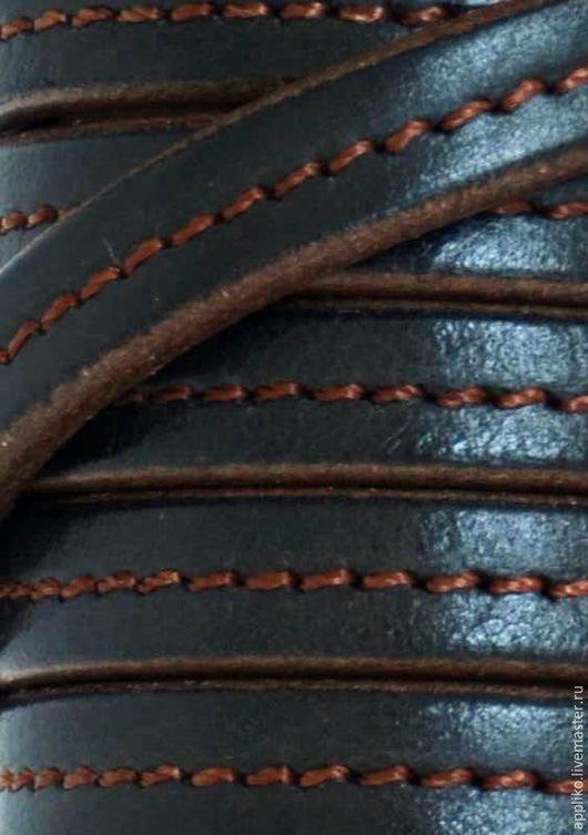 Для украшений ручной работы. Ярмарка Мастеров - ручная работа. Купить КОЖАНЫЙ ШНУР  10х4.5 мм. ЧЕРНЫЙ & КОРИЧНЕВЫЙ. Handmade.