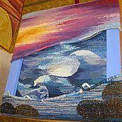 """Картины и панно ручной работы. Ярмарка Мастеров - ручная работа Гобелен """"Волна"""" (шерсть). Handmade."""