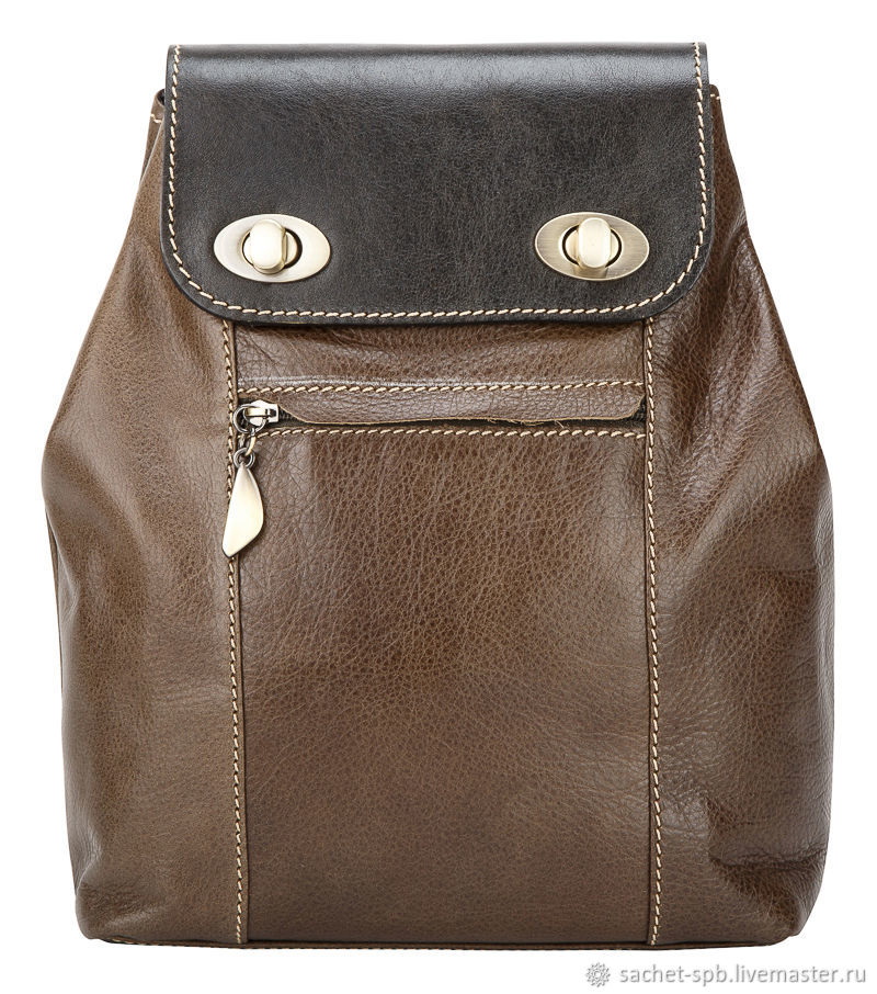 Womens leather backpack 'Palermo' (olive), Backpacks, St. Petersburg,  Фото №1
