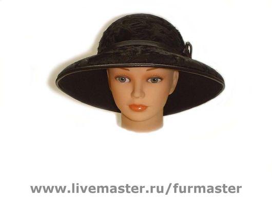 Шляпы ручной работы. Ярмарка Мастеров - ручная работа. Купить Шляпа женская (каракульча). Handmade. Мех каракульча, кожа