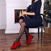 Обувь ручной работы. Ярмарка Мастеров - ручная работа Валяные полуботинки Красное-Черное. Handmade.