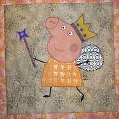 """Для дома и интерьера ручной работы. Ярмарка Мастеров - ручная работа """"Peppa Pig"""" (лоскутный комплект).. Handmade."""