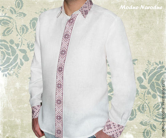 Рубашка КЛАССИЧЕСКАЯ, ручная вышивка  Мужские рубашки Сорочки мужские Белая рубашка Мужские сорочки Стильные рубашки Офисная одежда Классическая рубашка Вышиванки Творческое ателье Modne-Narodne.