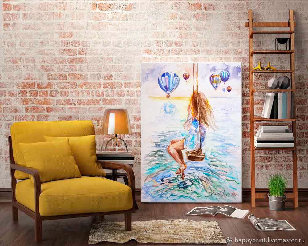 Цветной рассвет, картина принт на холсте, принт на бумаге, Картины, Москва,  Фото №1