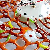 Для дома и интерьера ручной работы. Ярмарка Мастеров - ручная работа часы из стекла, фьюзинг  Дольче вита. Handmade.