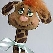 Куклы и игрушки ручной работы. Ярмарка Мастеров - ручная работа Кофейная игрушка жираф. Handmade.
