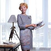 """Одежда ручной работы. Ярмарка Мастеров - ручная работа валяное платье """"Cozy"""". Handmade."""