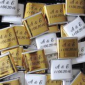 """Свадебный салон ручной работы. Ярмарка Мастеров - ручная работа Сладкие пожелания/предсказания для гостей """"Золото+Белый"""". Handmade."""