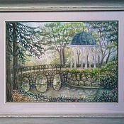 """Картины и панно ручной работы. Ярмарка Мастеров - ручная работа Картина """"Беседка в лесу"""". Handmade."""