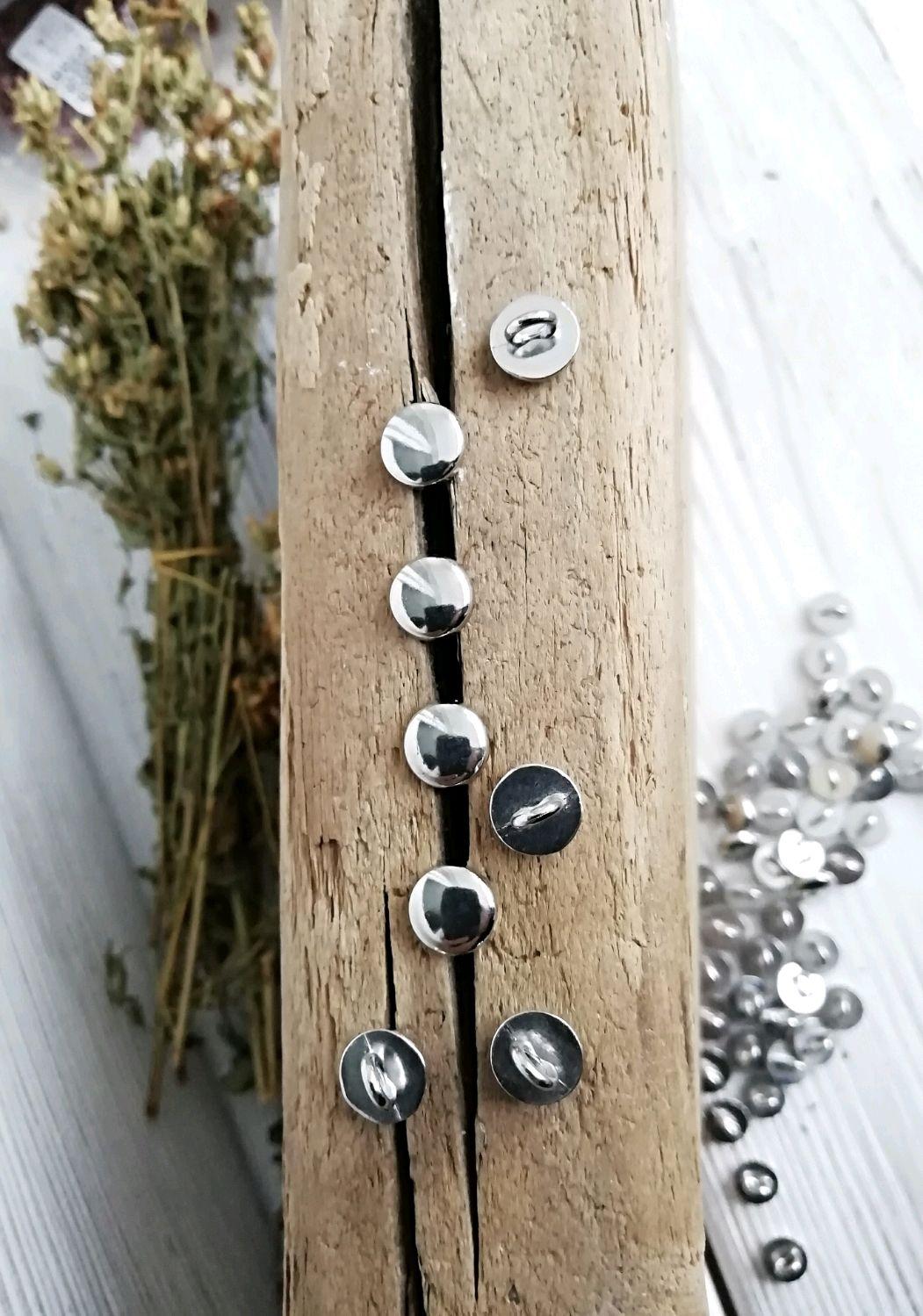 Пуговицы металлические 8мм пуговица гриб на ножке металл, Пуговицы, Железнодорожный,  Фото №1