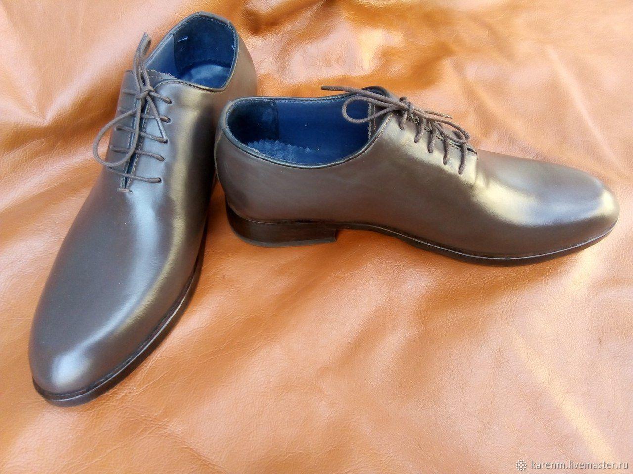 Обувь ручной работы. Ярмарка Мастеров - ручная работа. Купить Цельнокроеная классика. Handmade. Коричневый, кожаная обувь, кожаная подошва