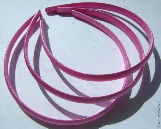 Для украшений ручной работы. Ярмарка Мастеров - ручная работа. Купить Розовая Основа для ободка в атласе 1см. Handmade. Разноцветный