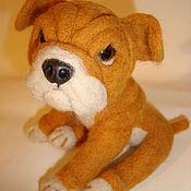 Куклы и игрушки handmade. Livemaster - original item Toy felted Bulldog. Handmade.