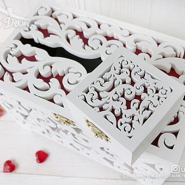 Свадебный салон ручной работы. Ярмарка Мастеров - ручная работа Деревянный короб для конвертов на свадьбу казна и шкатулка для колец. Handmade.