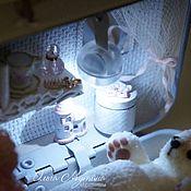 Мебель для кукол ручной работы. Ярмарка Мастеров - ручная работа Подсветка на магните. Handmade.