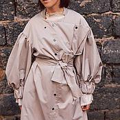 Одежда ручной работы. Ярмарка Мастеров - ручная работа Плащ - трансформер, беж. Handmade.