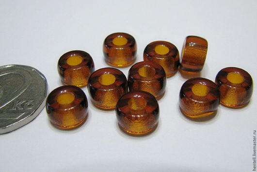 Для украшений ручной работы. Ярмарка Мастеров - ручная работа. Купить Бусины-тоннели 9 мм (отверстие 4 мм). Handmade.