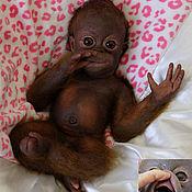 Куклы Reborn ручной работы. Ярмарка Мастеров - ручная работа Полностью силиконовый бэби-орангутан Мики Орангутанович номер 2. Handmade.