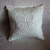 "Для дома и интерьера handmade. Livemaster - original item Quilted pillowcase ""Your Name"". Handmade."