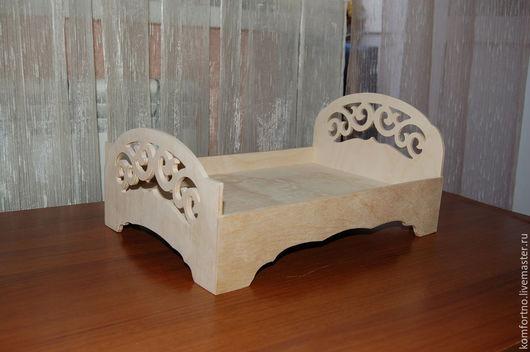 Кукольная кроватка. Заготовка для декупажа и росписи.974