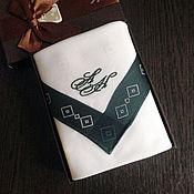 Аксессуары handmade. Livemaster - original item Handkerchief Suite. monogram initials monogram. Handmade.