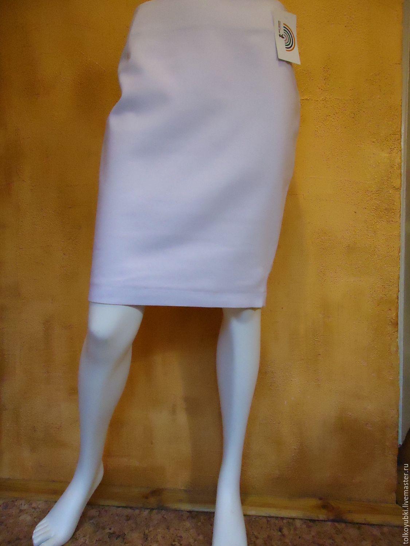 Юбки стрейч белая