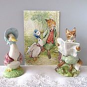 handmade. Livemaster - original item 2 porcelain figurines of the Beatrix Potter series Royal Albert. Handmade.