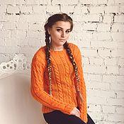 Одежда ручной работы. Ярмарка Мастеров - ручная работа Джемпер оранж. Handmade.