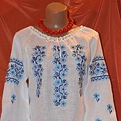 Блузки ручной работы. Ярмарка Мастеров - ручная работа Блузки: В синих тонах. Handmade.