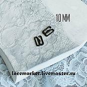 Фурнитура для шитья ручной работы. Ярмарка Мастеров - ручная работа Крючок застежка для бретели черный металл 10 мм. Handmade.