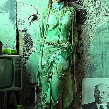 Одежда ручной работы. Ярмарка Мастеров - ручная работа платье-пальто ВЕСНА ПРИШЛА. Handmade.