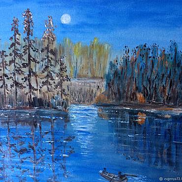 Картины и панно ручной работы. Ярмарка Мастеров - ручная работа Лунная соната. Handmade.