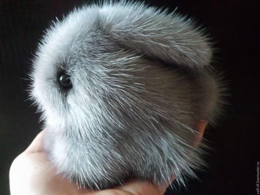 Игрушки животные, ручной работы. Ярмарка Мастеров - ручная работа. Купить Крольчонок из норки. Handmade. Серый, заяц игрушка, синтепон