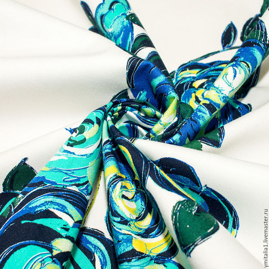 Шитье ручной работы. Ярмарка Мастеров - ручная работа. Купить Джинсовая ткань с эластаном  PINKO купон. Handmade. Именная ткань