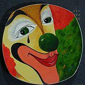 """Посуда ручной работы. Ярмарка Мастеров - ручная работа Декоративная тарелка из серии""""Клоуны"""". Handmade."""
