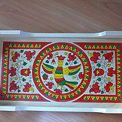 Для дома и интерьера ручной работы. Ярмарка Мастеров - ручная работа поднос с северо-двинской росписью. Handmade.