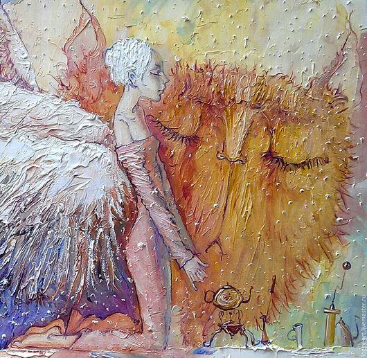 """Символизм ручной работы. Ярмарка Мастеров - ручная работа. Купить """"Angelus Domini или утренняя молитва"""". Handmade. Картина в подарок"""