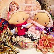 Куклы и игрушки ручной работы. Ярмарка Мастеров - ручная работа Рождественские ангелочки в винтажном стиле. Handmade.