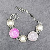 Украшения handmade. Livemaster - original item Delicate bracelet natural agate and pearls. Handmade.