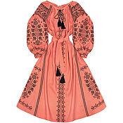 """Одежда handmade. Livemaster - original item Long embroidered dress """"Maiden Seduction"""". Handmade."""