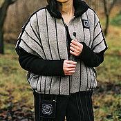 Одежда handmade. Livemaster - original item Vest women`s warm wool grey Samurai. Handmade.