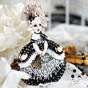 """Украшения ручной работы. Ярмарка Мастеров - ручная работа текстильная брошь - Рококо """"Драма"""". Handmade."""