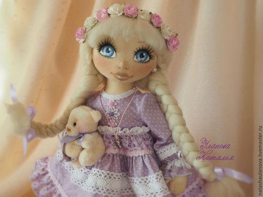 Коллекционные куклы ручной работы. Ярмарка Мастеров - ручная работа. Купить Юленька.. Handmade. Бледно-сиреневый, кукла интерьерная