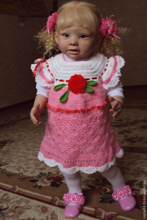 Куклы-младенцы и reborn ручной работы. Ярмарка Мастеров - ручная работа. Купить Ангелина. Handmade. Большая кукла, мохер
