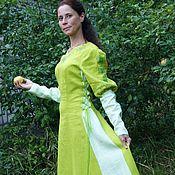 Одежда ручной работы. Ярмарка Мастеров - ручная работа Эльфиское платье из льна Лесная фея. Handmade.