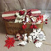 Подарки к праздникам ручной работы. Ярмарка Мастеров - ручная работа Большой набор елочных игрушек N5. Handmade.